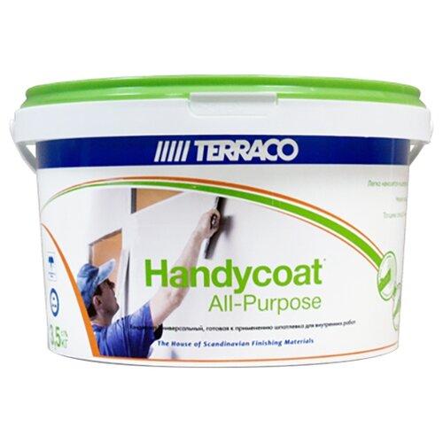 Фото - Шпатлевка Terraco Нandycoat All-Purpose, белый, 3.5 кг шпатлевка готовая terraco handycoat all purpose универсальная 25кг арт 6311225