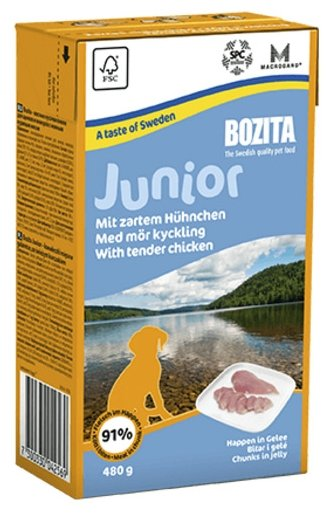 Корм для щенков Bozita курица 16шт. х 480г