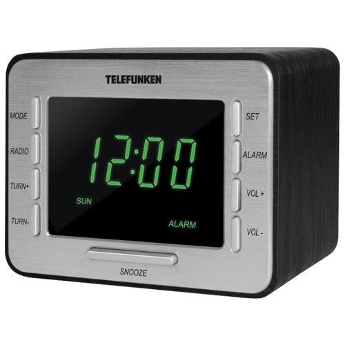 Радиобудильник TELEFUNKEN TF-1508 черный c зеленым