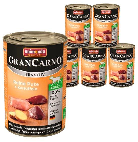 Корм для собак Animonda GranCarno индейка с картофелем 6шт. х 400г