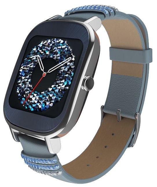 Смарт-часы ASUS ZenWatch 2 WI502Q Blue, Синий 90NZ003A-M01320 WI502Q-1LSVK0012 (голубой кожаный реме