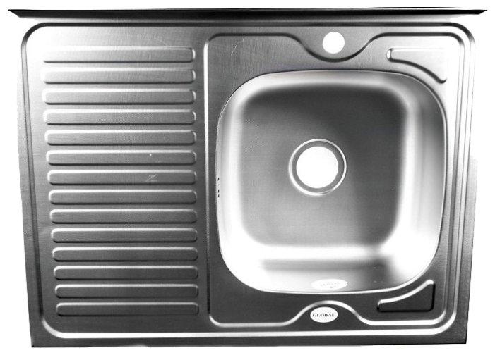 Накладная кухонная мойка Fabia 80x60 0.6/160 80х60см нержавеющая сталь