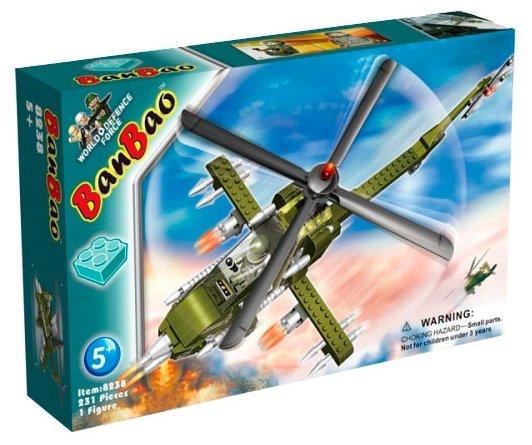 """Конструктор """"Военный вертолет"""", 231 деталь Banbao (Банбао) 8238 BanBao"""