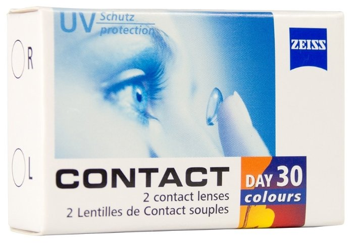 Carl Zeiss Contact Day 30 colors One-tone (2 линзы)