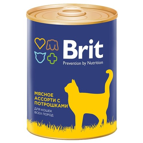 Корм для кошек Brit мясное ассорти 340 г (паштет)Корма для кошек<br>