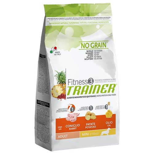 Корм для собак TRAINER Fitness3 No Grain Adult Mini Rabbit and potatoes dry (2 кг) сухой корм trainer fitness3 no gluten mini adult lamb