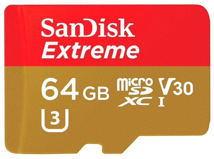 SanDisk Extreme microSDXC Class 10 UHS Class 3 V30 90MB/s 64GB