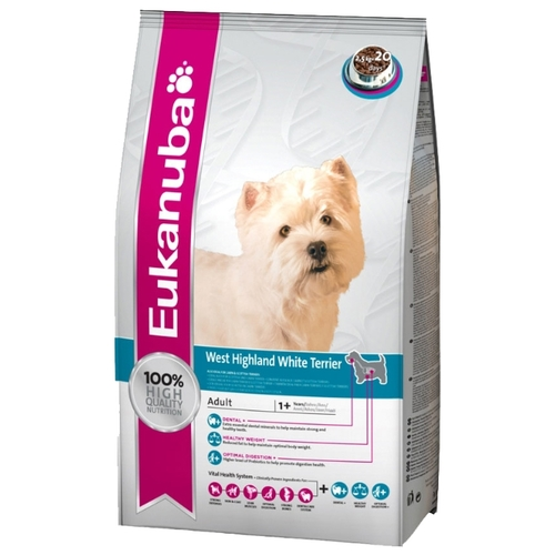Корм для собак Eukanuba (2.5 кг) Breed Specific Dry Dog Food For West Highland White Terrier Chicken