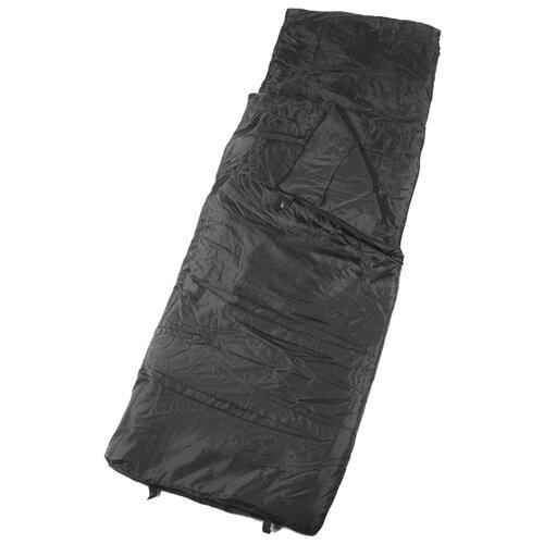 Спальный мешок Спортивные Мастерские Одеяло с подголовником 0°С/+10°С черный