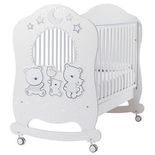 Кроватка Italbaby Happy Family Oblo (качалка), на полозьях белый балдахин тюлевый italbaby happy family белый 840 0054 5