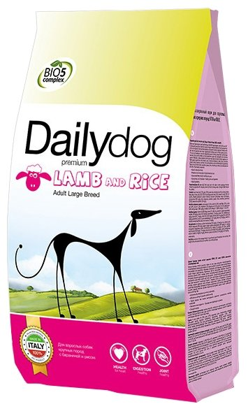 Корм для собак Dailydog Adult Large Breed lamb and rice