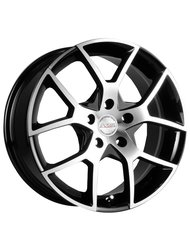 Диски Racing Wheels H-466 6,5x15 5x105 D56.6 ET35 цвет BK/FP - фото 1