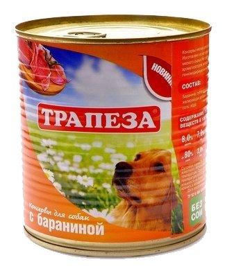 Корм для собак Трапеза Консервы для собак с бараниной (0.75 кг) 9 шт.