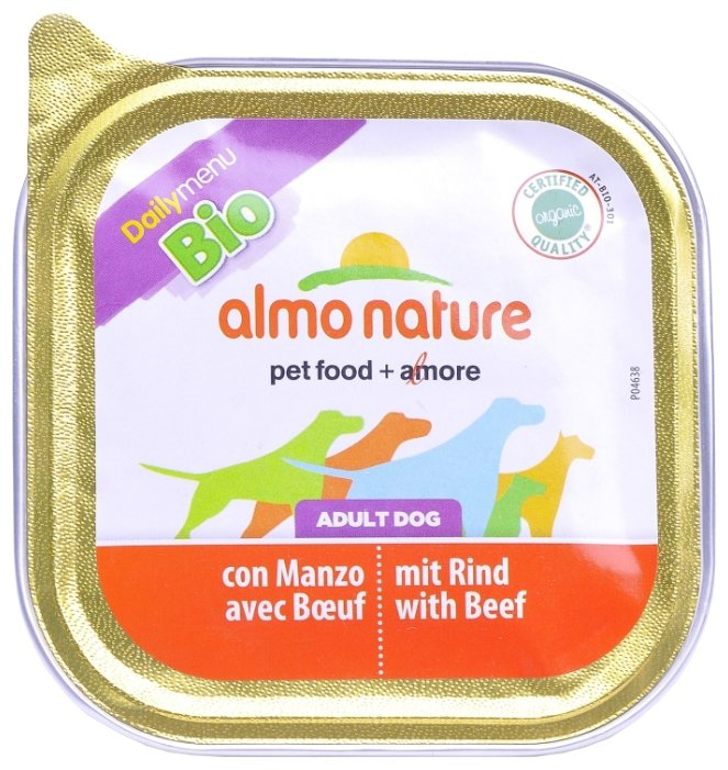 Корм для собак Almo Nature Daily Menu говядина 32шт. х 100г