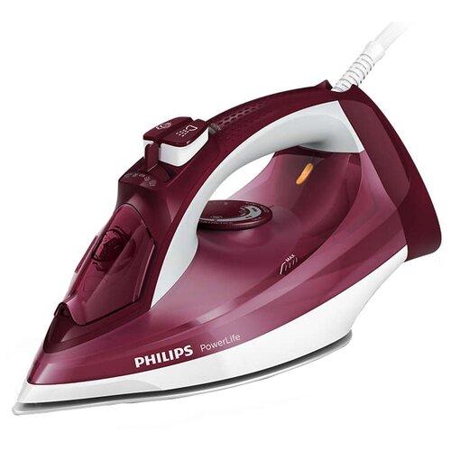 Утюг Philips GC2997/40 PowerLife фиолетовый/белый утюг philips gc4595 40 2600вт белый красный