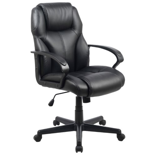 Компьютерное кресло College HLC-0601, обивка: искусственная кожа, цвет: черный кресло руководителя college hlc 0601 black