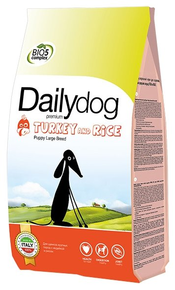 Корм для собак Dailydog Puppy Large Breed turkey and rice