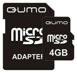 Карта памяти Qumo MicroSD + SD adapter