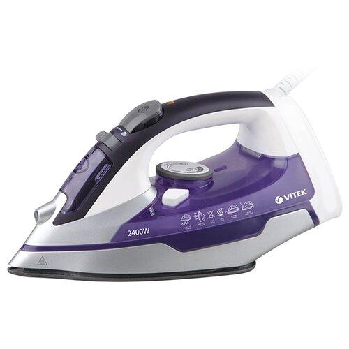 Утюг VITEK VT-1257 фиолетовый/белый отпариватель vitek vt 1287 vt белый фиолетовый