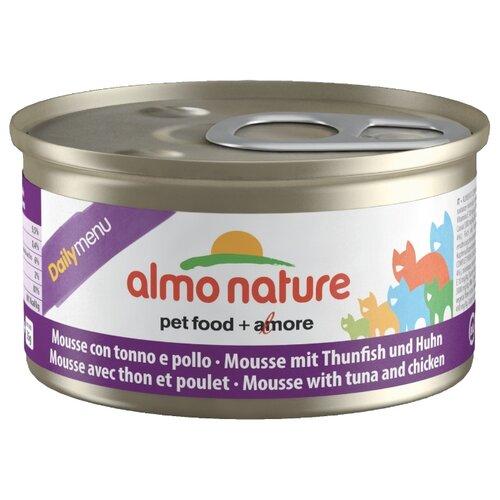 Корм для кошек Almo Nature Daily Menu, беззерновой, с тунцом, с курицей 24шт. х 85 г
