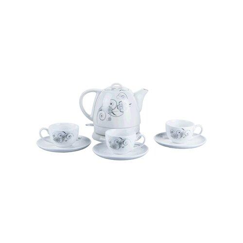 Чайник VES electric 2100, белый чайник ves electric h 105 steel