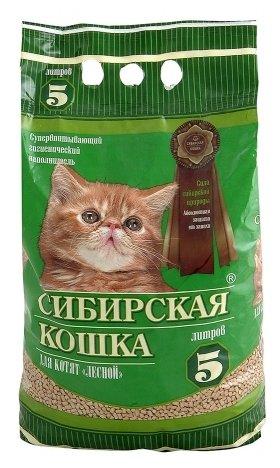 Наполнитель Сибирская кошка Для котят Лесной (5 л)