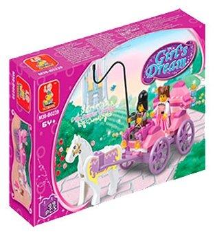 Классический конструктор SLUBAN Розовая мечта M38-B0239 Карета принцессы