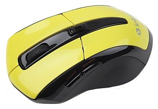 Мышь Intro MW207 mouse Wireless Black-Yellow USB