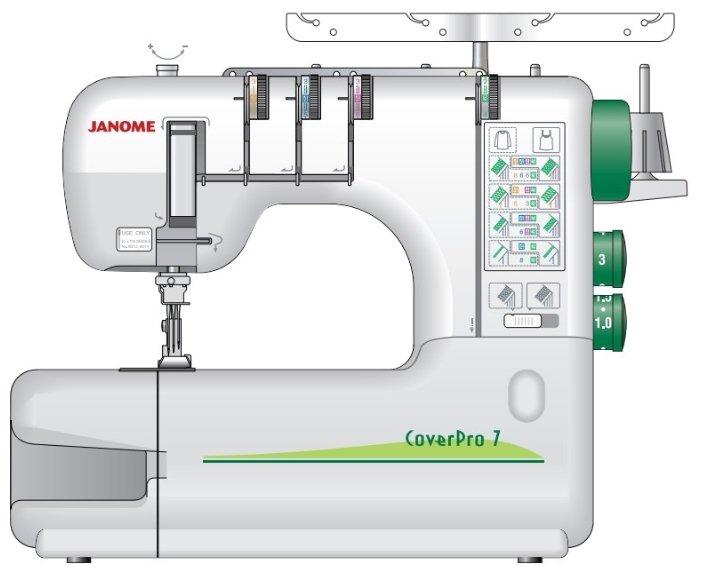 Распошивальная машина Janome CoverPro 7