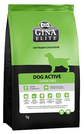 Корм для собак Gina Elite (1 кг) Dog Active Grain Free