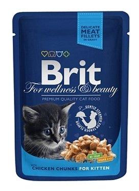Корм для котят Brit Premium беззерновой, с курицей 100 г (кусочки в соусе) — купить по выгодной цене на Яндекс.Маркете