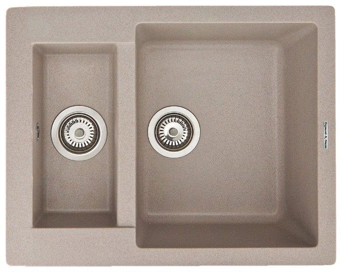 Врезная кухонная мойка Zigmund & Shtain RECHTECK 600.2
