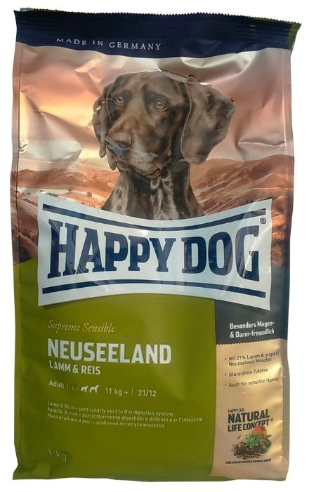Корм для собак Happy Dog Supreme Sensible - Neuseeland с ягненком и рисом