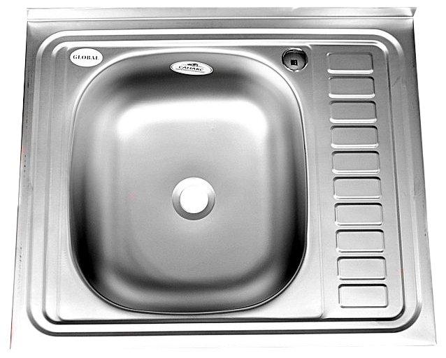 Накладная кухонная мойка Fabia 50x60 (m00007) 60х50см нержавеющая сталь