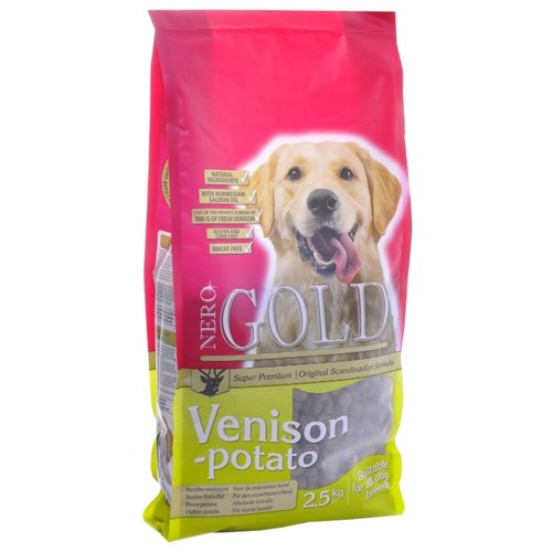 Сухой корм для собак Nero Gold оленина с картофелем 2.5 кг