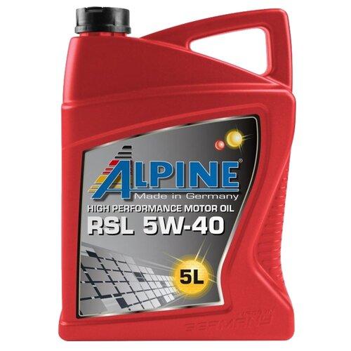 Синтетическое моторное масло ALPINE RSL 5W-40, 5 л