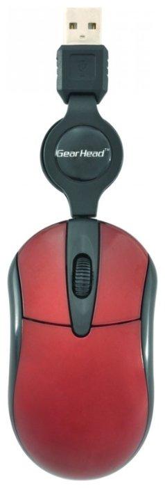 Мышь Gear Head MP1750RED Red USB