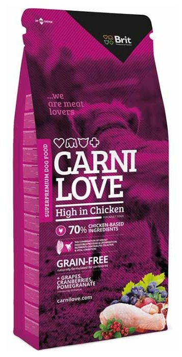 Корм для собак Carnilove Carnilove High in Chicken for adult dogs (1.5 кг)