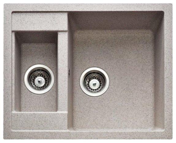 Врезная кухонная мойка Gran-Stone GS-21 61х49.5см искусственный мрамор