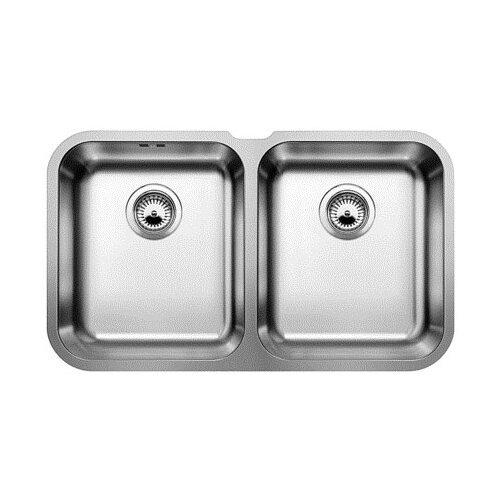 Фото - Врезная кухонная мойка 71.5 см Blanco Supra 340/340-U полированная сталь кухонная мойка blanco supra 450 u 518203