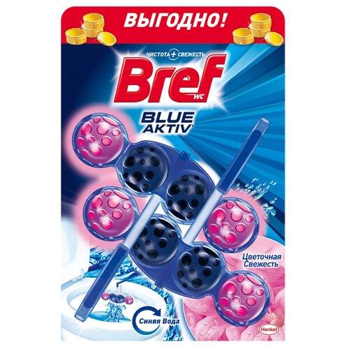 Bref туалетный блок Blue Aktiv Цветочная Свежесть 2 шт.Для кафеля, сантехники и труб<br>