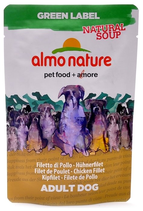 Корм для собак Almo Nature Green Label куриное филе 140г