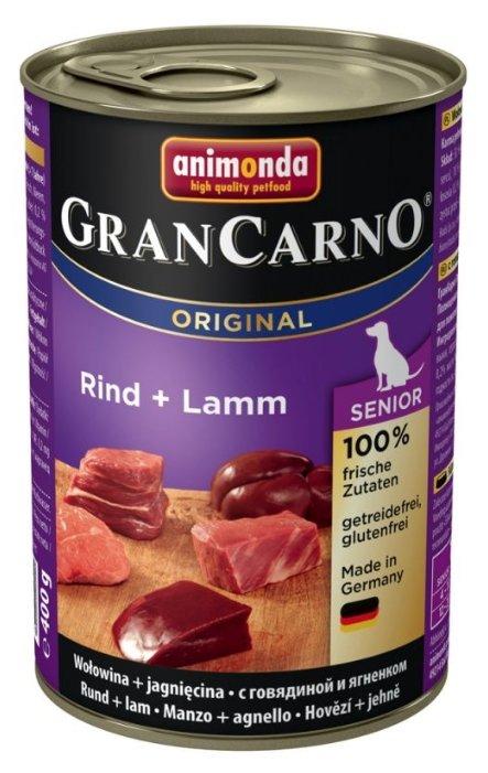 Корм для пожилых собак Animonda GranCarno Original говядина, ягненок 400г