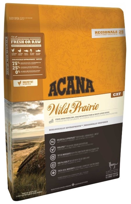 Acana (5.4 кг) Wild Prairie for cats