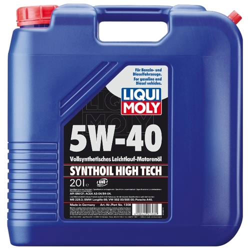Моторное масло LIQUI MOLY Synthoil High Tech 5W-40 20 л Моторные масла