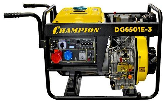 Дизельный генератор CHAMPION DG6501E 3 (4960 Вт)