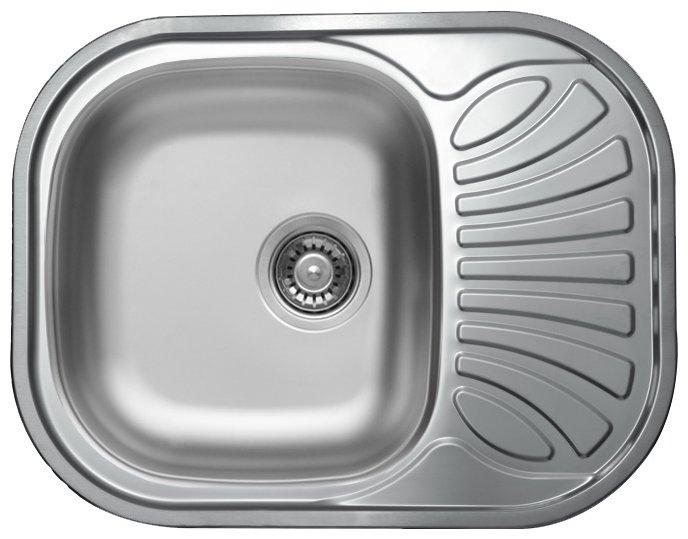 Врезная кухонная мойка Kromevye Bianca EC305 62х48см нержавеющая сталь