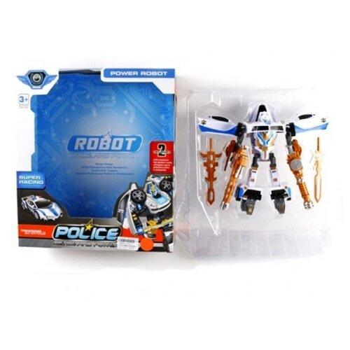 Купить Трансформер Shantou Gepai Police L015-7 бело-черно-золотой, Роботы и трансформеры