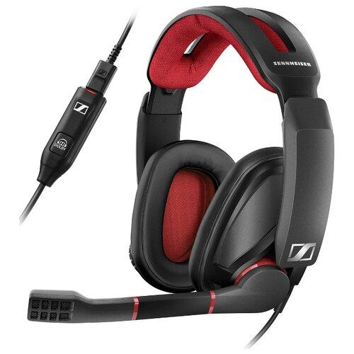 цена на Компьютерная гарнитура Sennheiser GSP 350 черно-красный