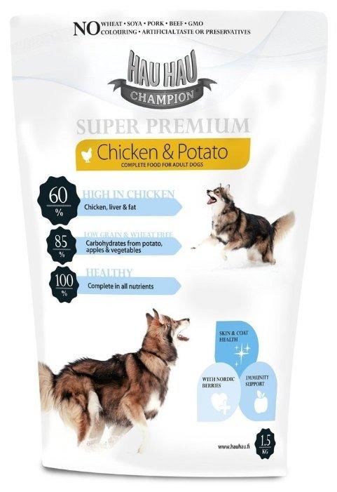 Корм для собак Hau-Hau Champion SuperPremium Chicken-Potato